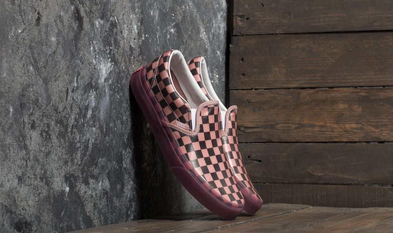 Vans Classic Slip-On (Translucent Rubber) Porcini/ Checkerboard