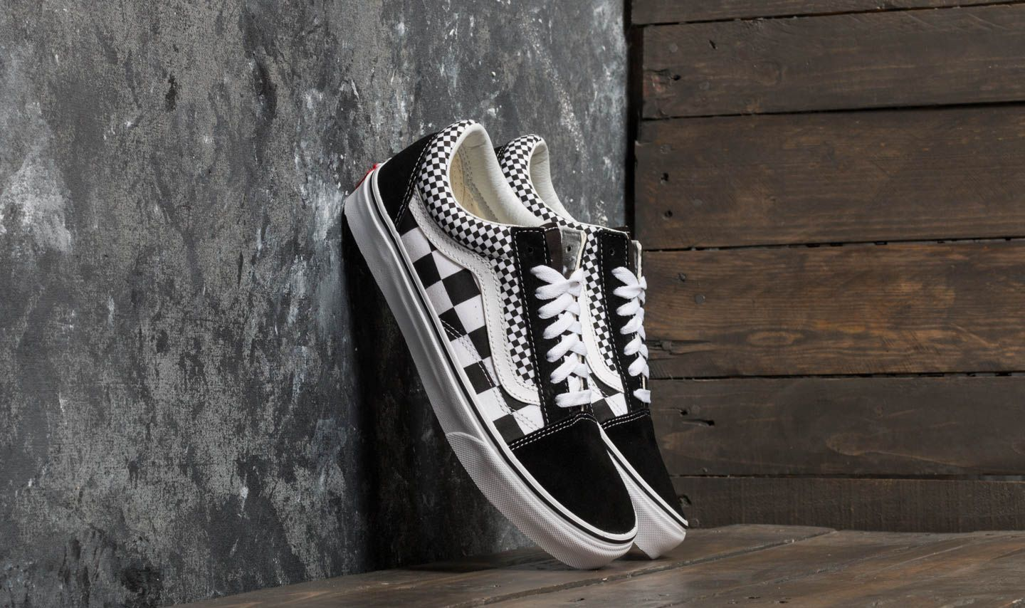 d60d80b7c2 Vans Old Skool (Mix Checker) Black  True White