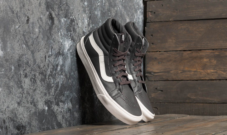 Vans Sk8-Hi Reissue (Leather) Asphalt/ Blanc De Blanc