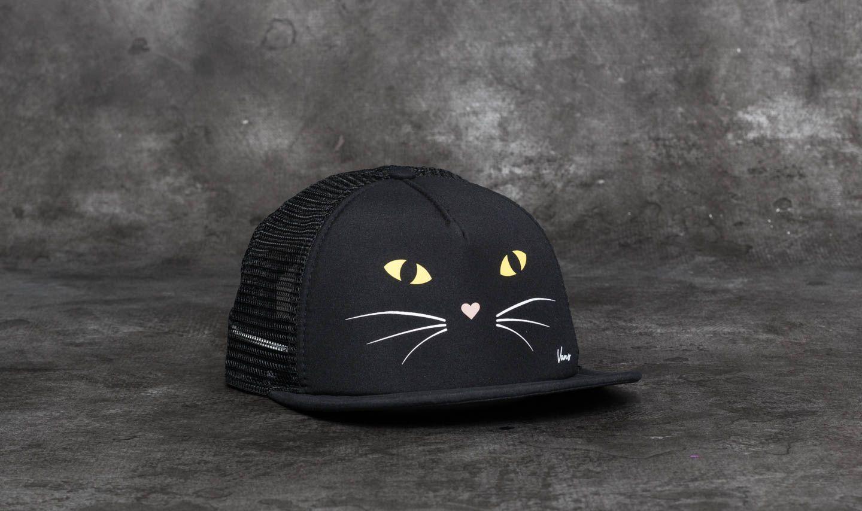 3b46c3acc81 Vans Lawn Party Trucker Hat Black Cat