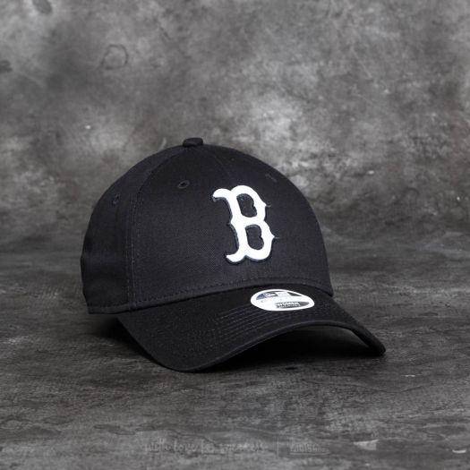 New Era 9Forty Women Essential Boston Red Sox Cap Black  White ... ef80e16af52