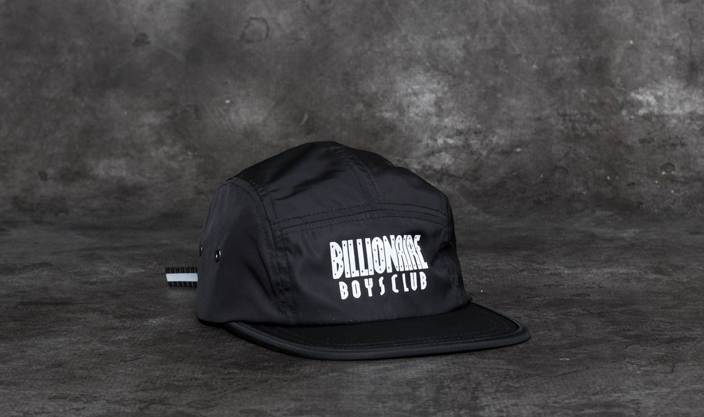 Billionaire Boys Club Reflective Logo Nylon 5 Panel Cap Black