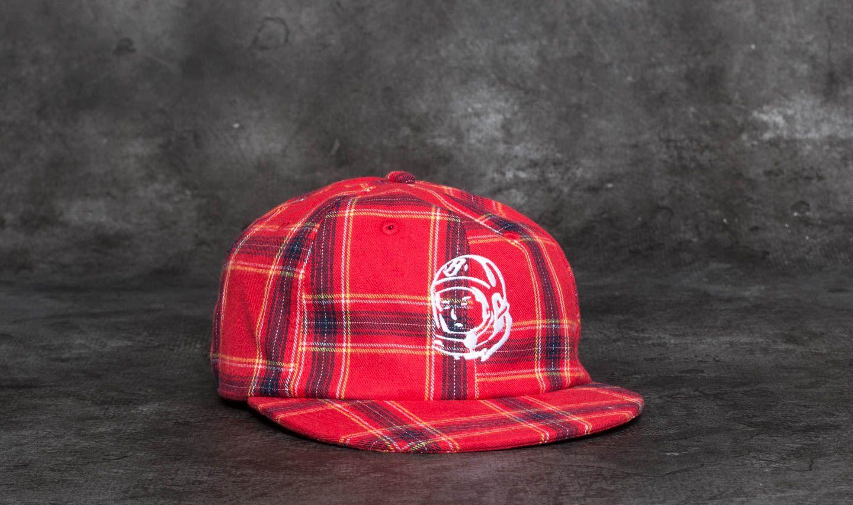 Billionaire Boys Club Helmet Strapback Cap Red Check