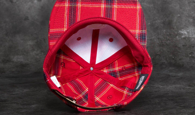 892955bc2a0 Billionaire Boys Club Helmet Strapback Cap Red Check a muy buen precio 41 €  comprar en
