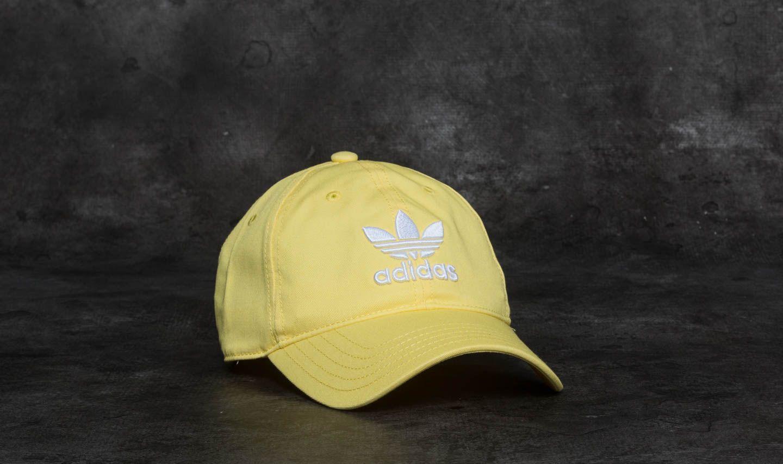 d1079d579d0 adidas Trefoil Cap Intense Lemon  White