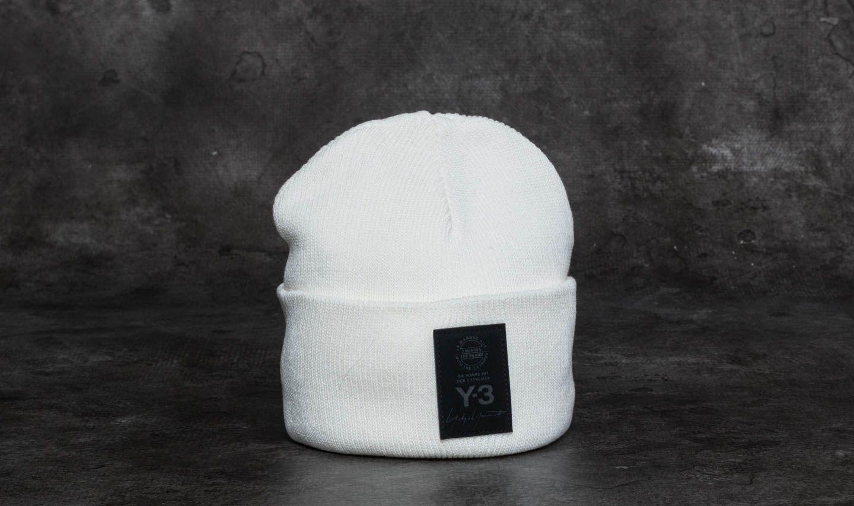 4ae549d8158 Y-3 Logo Beanie White
