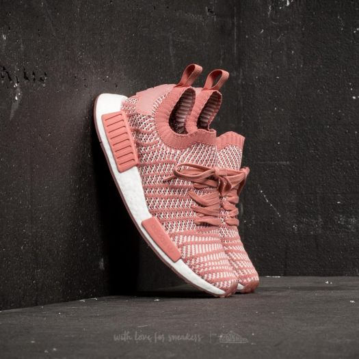 competitive price 1ea78 3786b adidas NMDR1 STLT Primeknit W Ash Pink Orchid Tint Ftw White  Footshop