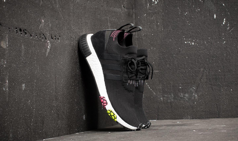 81673f91b adidas NMD Racer Primeknit Core Black  Core Black  Solar Pink ...