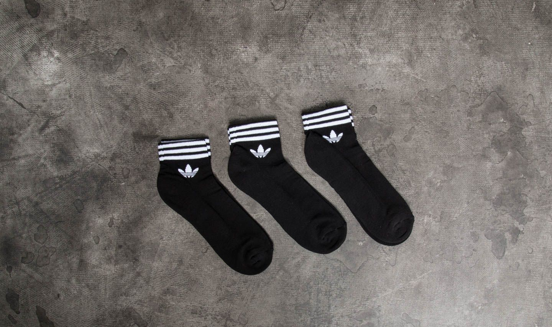 adidas Trefoil Ankle 3 Pack Socks Black