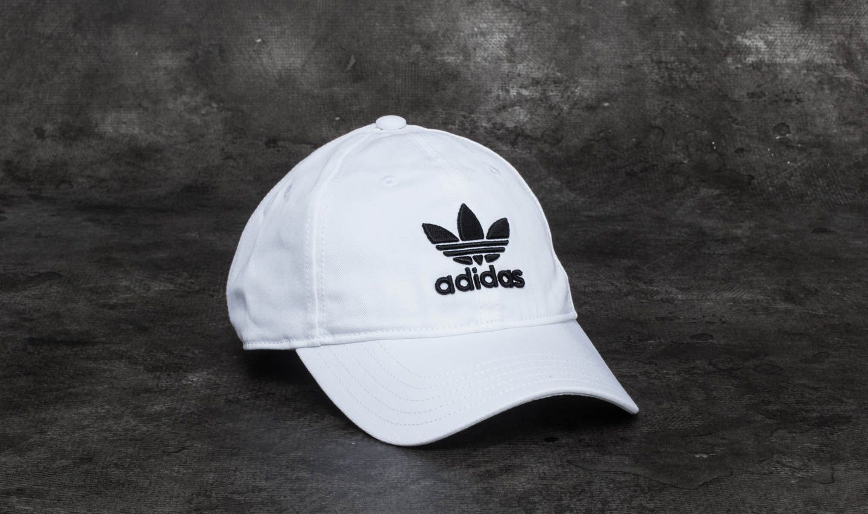 adidas Trefoil Classic Cap White  Black  74bb3ea47ef