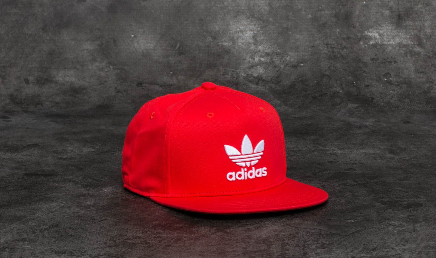 adidas AC Trefoil Flat Cap Core Red  White  574a1cf7bf