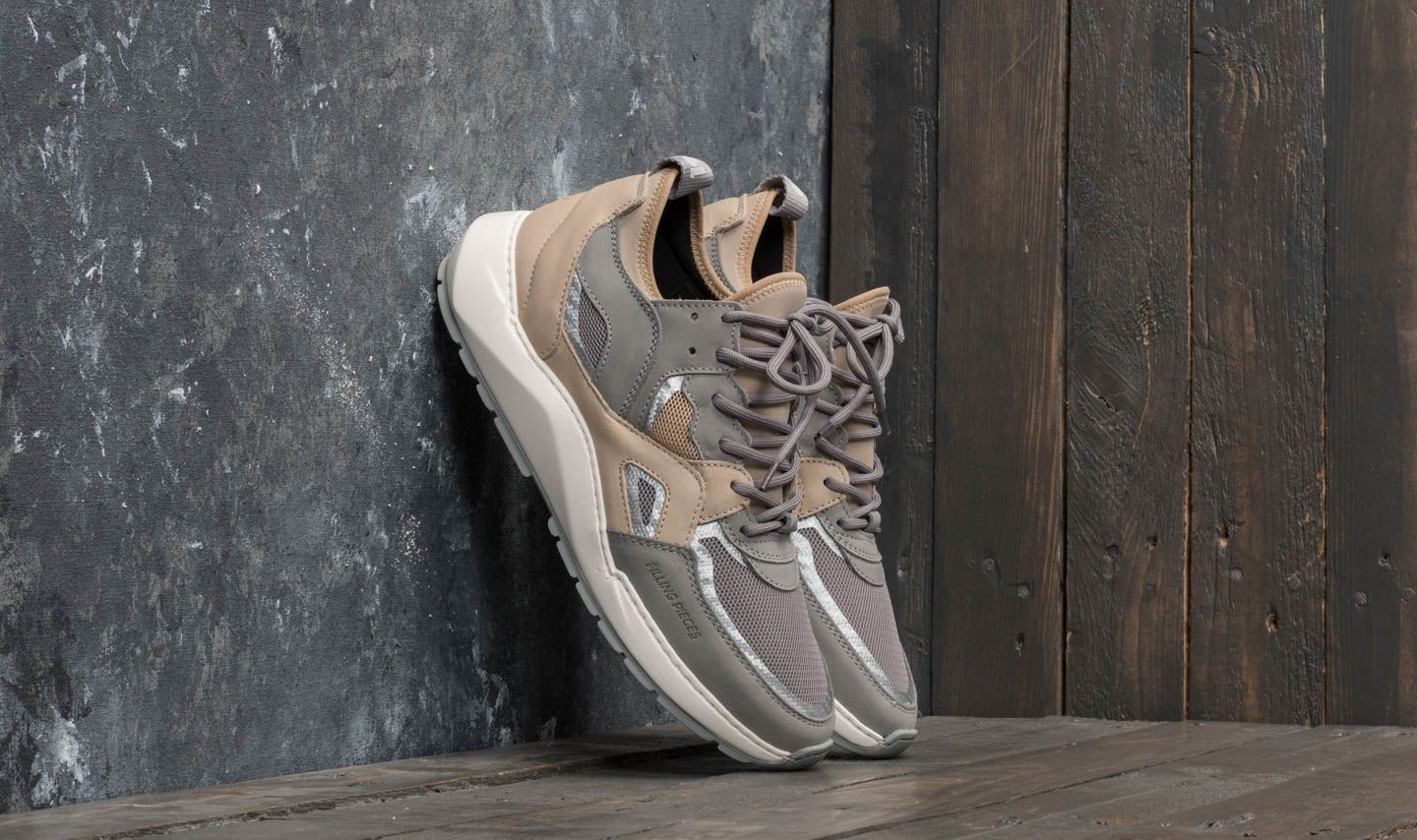 Filling Pieces Origin Low Arch Runner Fence Off White
