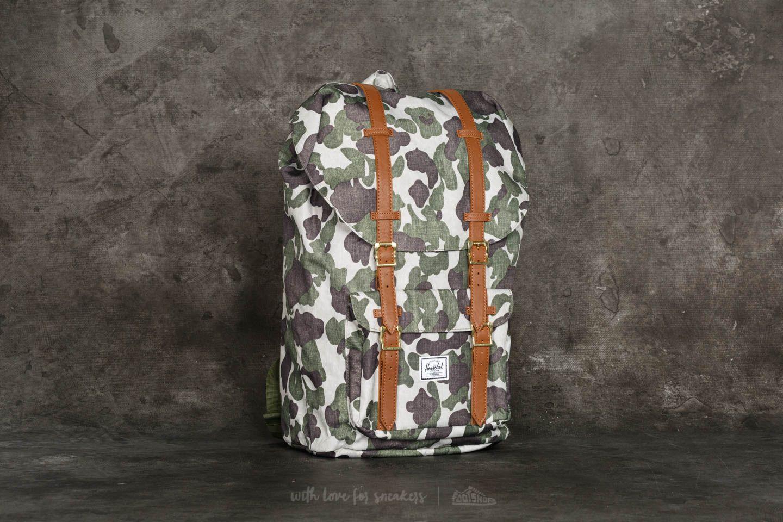 5483d8965a4 Herschel Supply Co. Little America Backpack Frog Camo  Tan ...