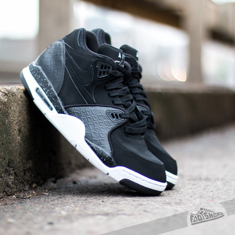 pretty nice 7bf8d 1c5d7 Nike Air Flight 89 Black White-Cool Grey