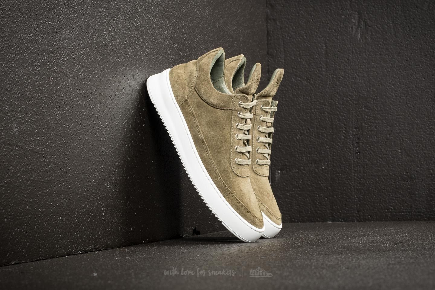 Filling Pieces Low Top Ripple Lane Suede Green
