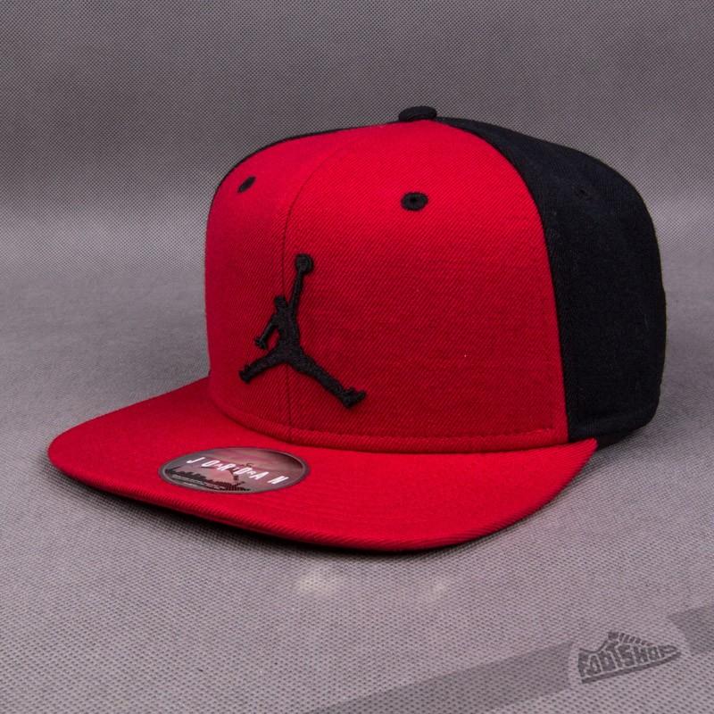 648ab3dcb7a Jordan Jumpman Snapback Red  Black