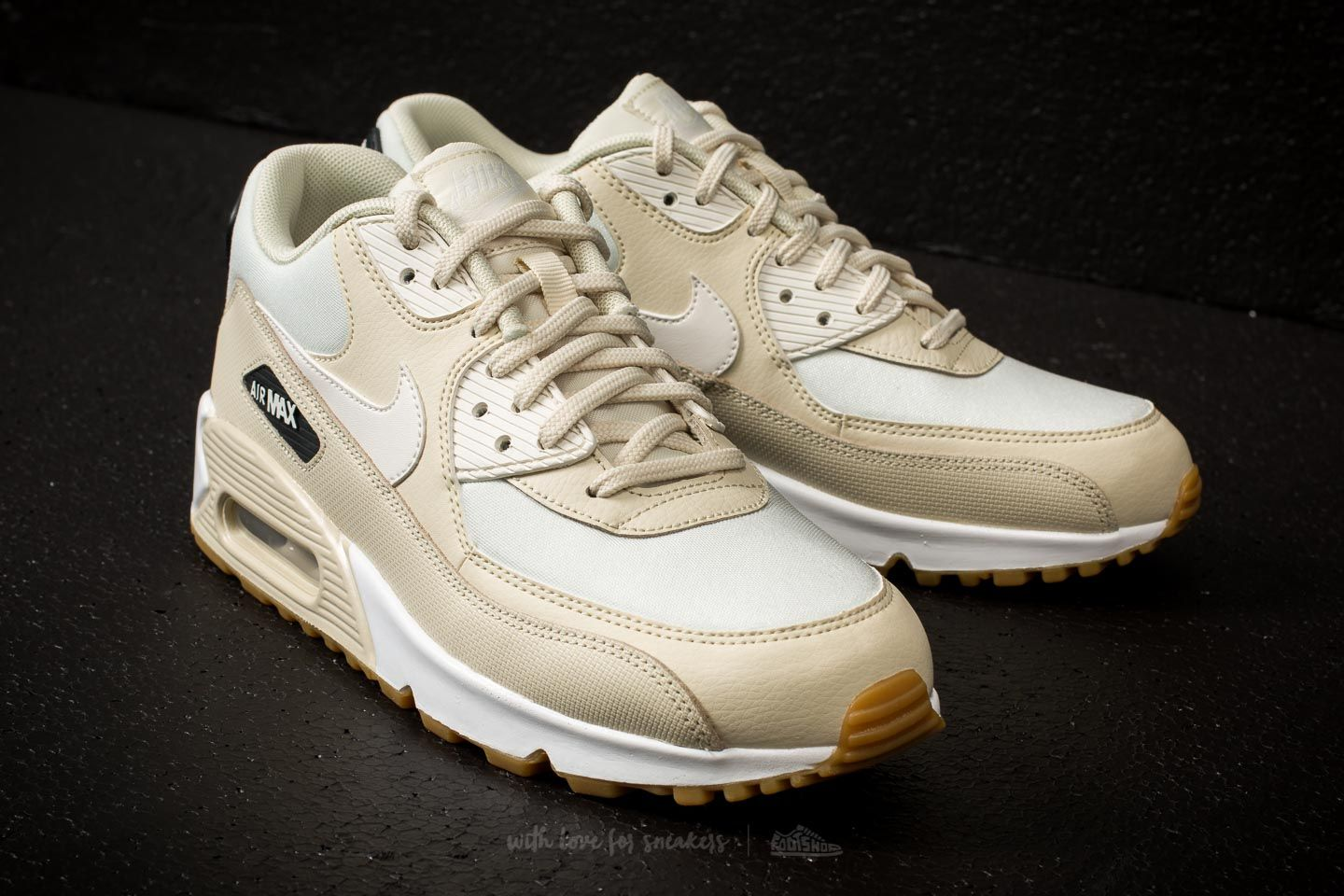 the latest be732 9070c Nike Wmns Air Max 90 Fossil/ Sail-Black | Footshop