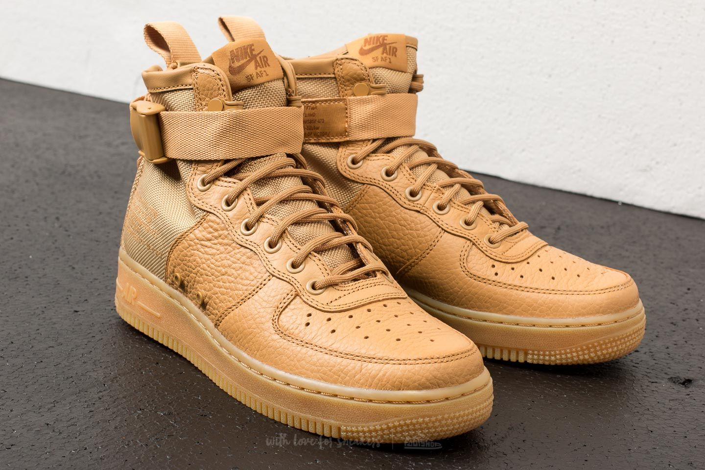 nike air force 1 mid gold