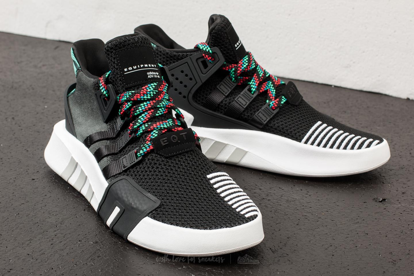 super popular 80df3 b8238 adidas EQT Bask ADV Core Black/ Core Black/ Sub Green | Footshop