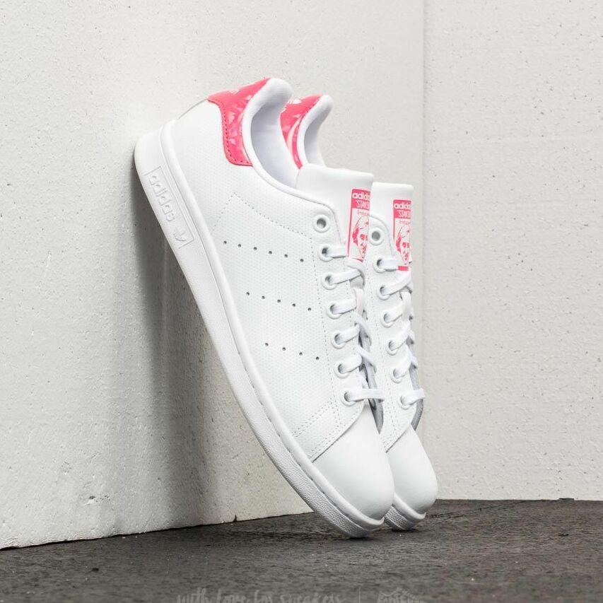 adidas Stan Smith J Ftw White/ Ftw White/ Real Pink EUR 35.5