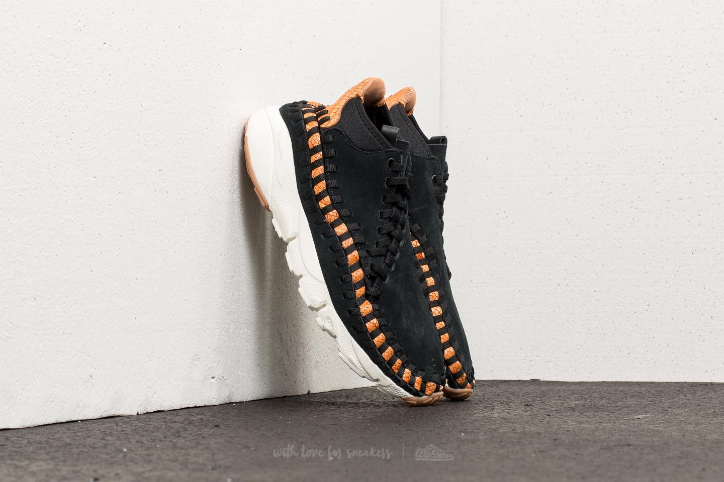 check out 30d62 822cb Nike Air Footscape Woven Chukka Premium. Black  Black-Dark Russet-Sail