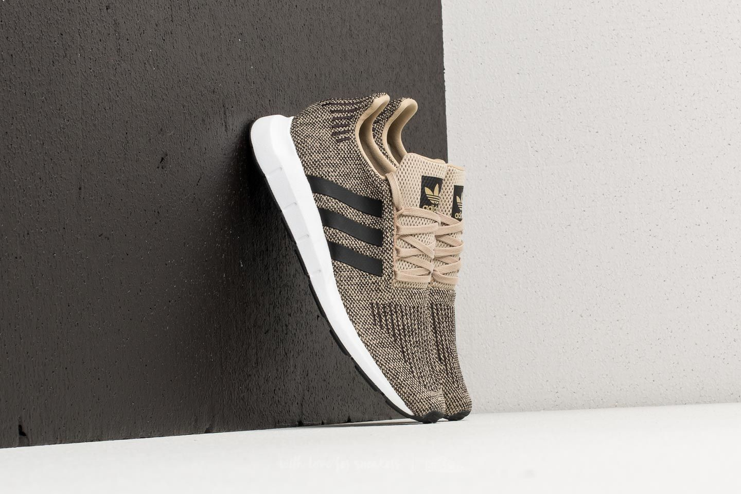 2d45cad515898 adidas Swift Run Raw Gold  Core Black  Ftw White