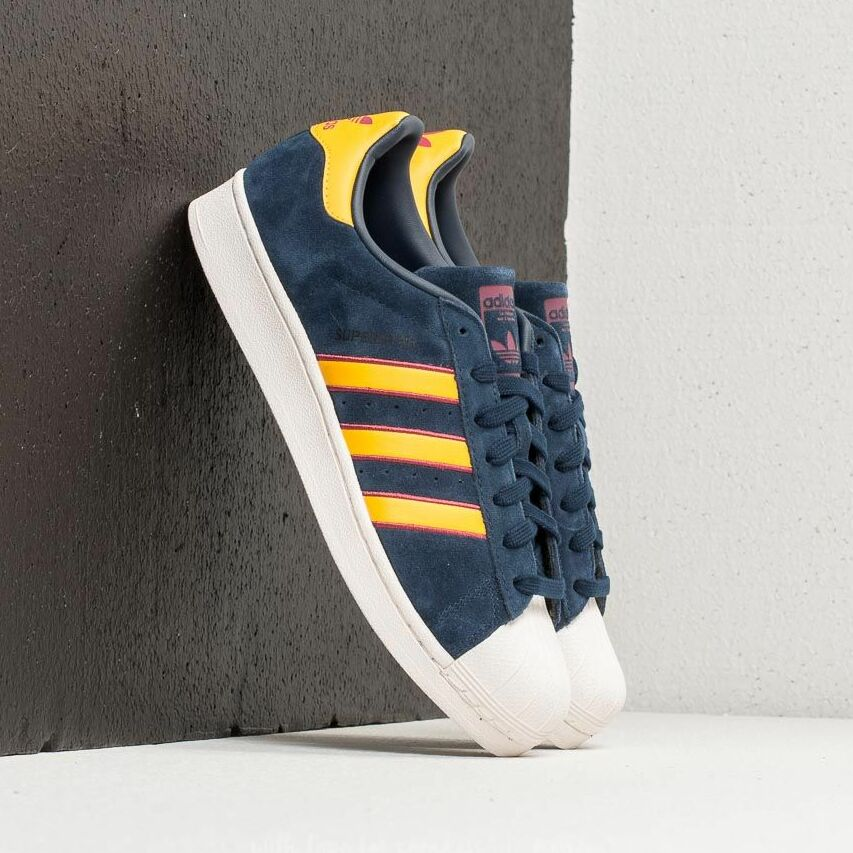 adidas Superstar Collegiate Navy/ Yellow Adiprene/ Red EUR 42