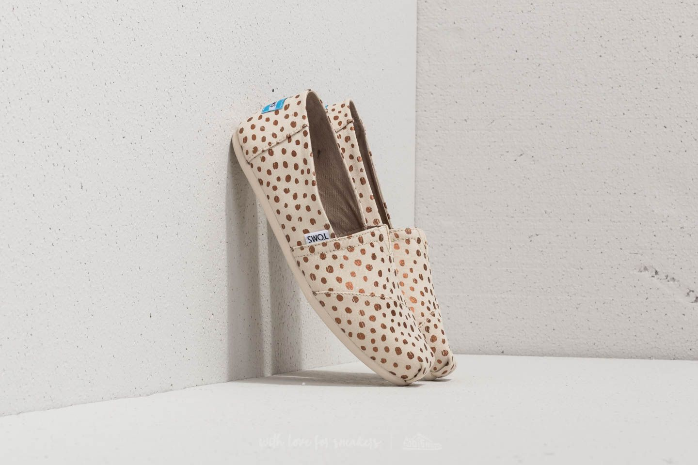 TOMS Wmn Classic Rose Gold/ Natural Canvas Dots