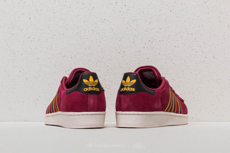 adidas Originals Superstar red core black yellow adiprene