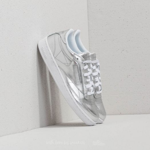 Freizeitschuhe C Sneaker Silber 85s Reebok Damen Club Shine