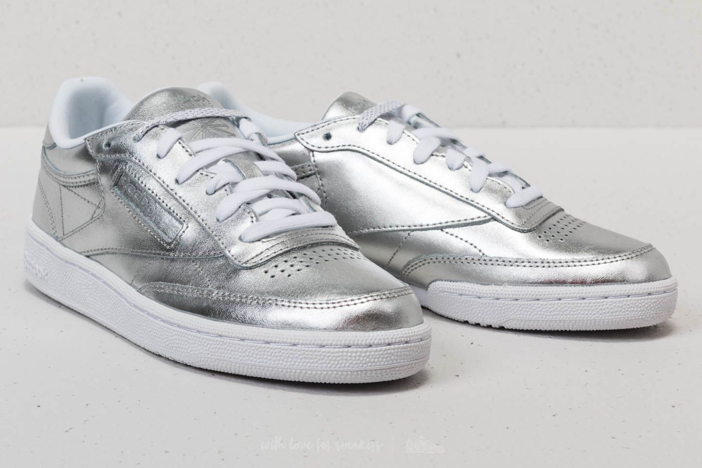2d8491544c86 Reebok Club C 85 S Shine Silver  White at a great price 63 € bestell