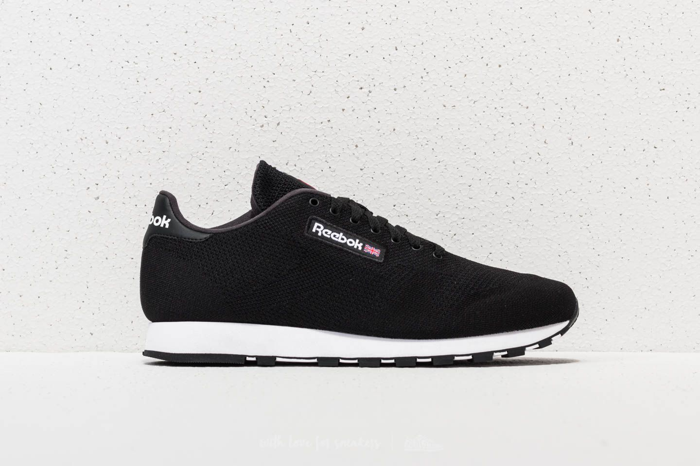 0159ac5039115 Reebok Classic Leather Ultraknit Black  White at a great price £47 buy at  Footshop