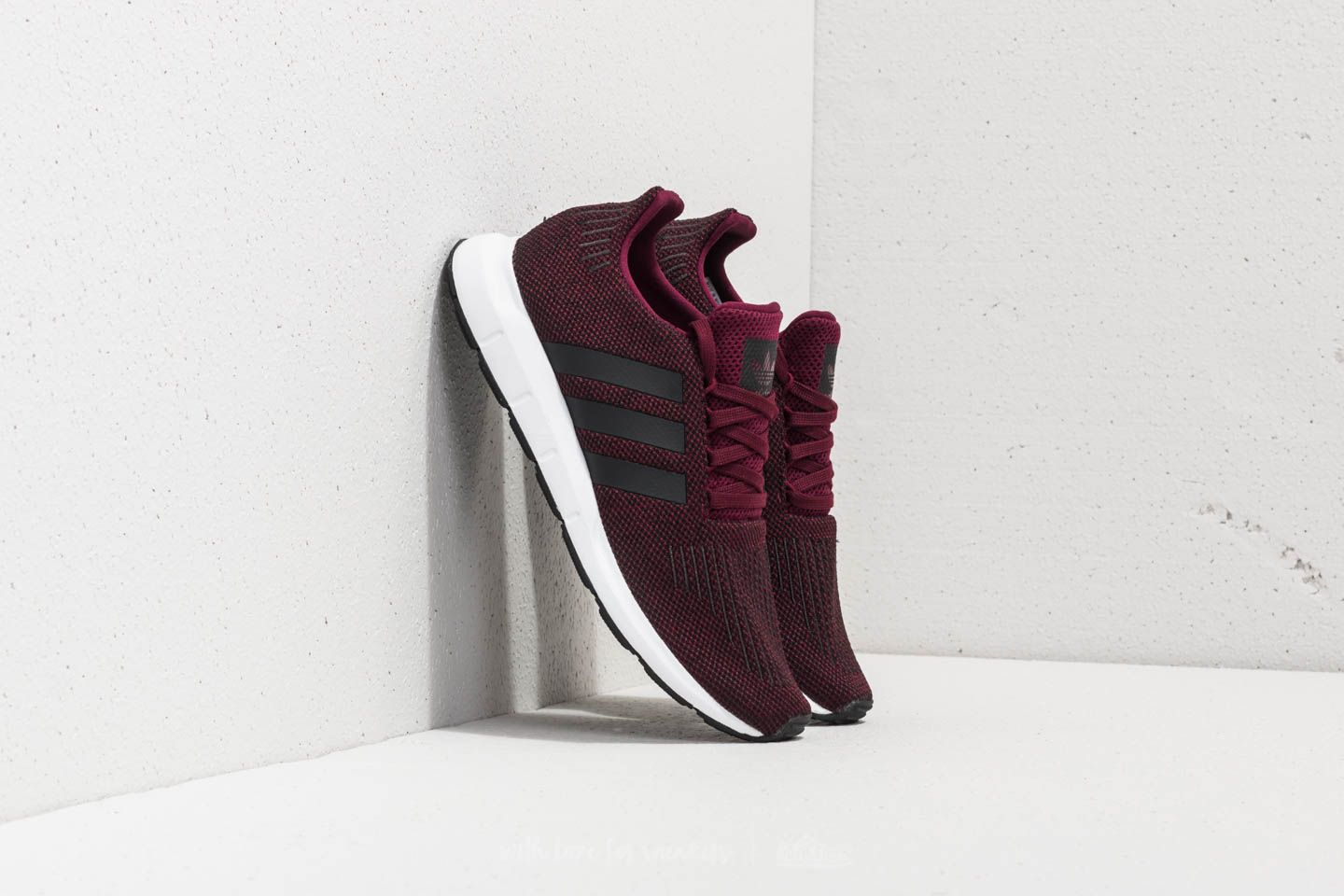 257d0dc4aadf1 adidas Swift Run Maroon  Core Black  Ftw White