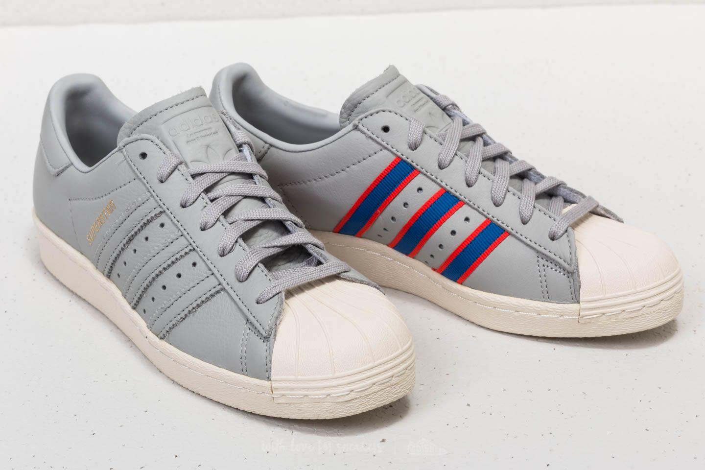 super popular 04b75 a25b8 adidas Superstar 80s Grey Four/ Blue/ Red | Footshop