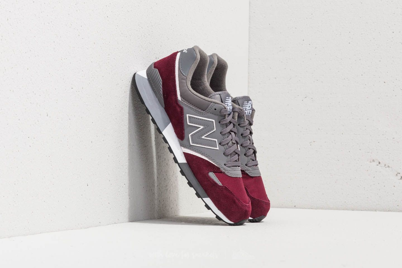 New Balance 446 Grey/ Burgundy