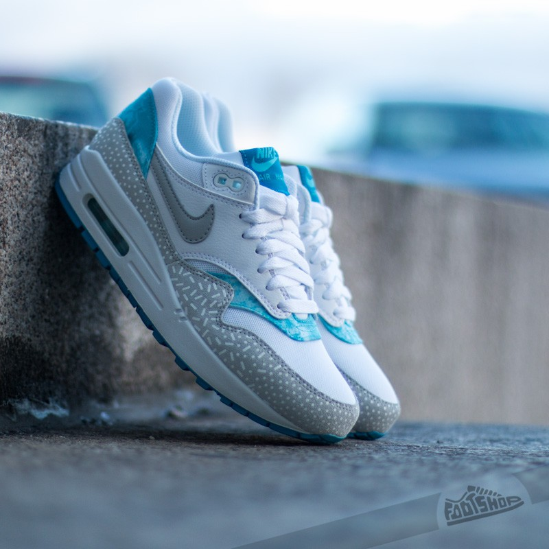 Women S Shoes Nike Wmns Air Max 1 Print White Grey Mist