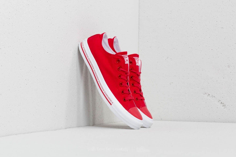 Converse Chuck Taylor All Star OX Enamel Red Enamel Red White | Footshop