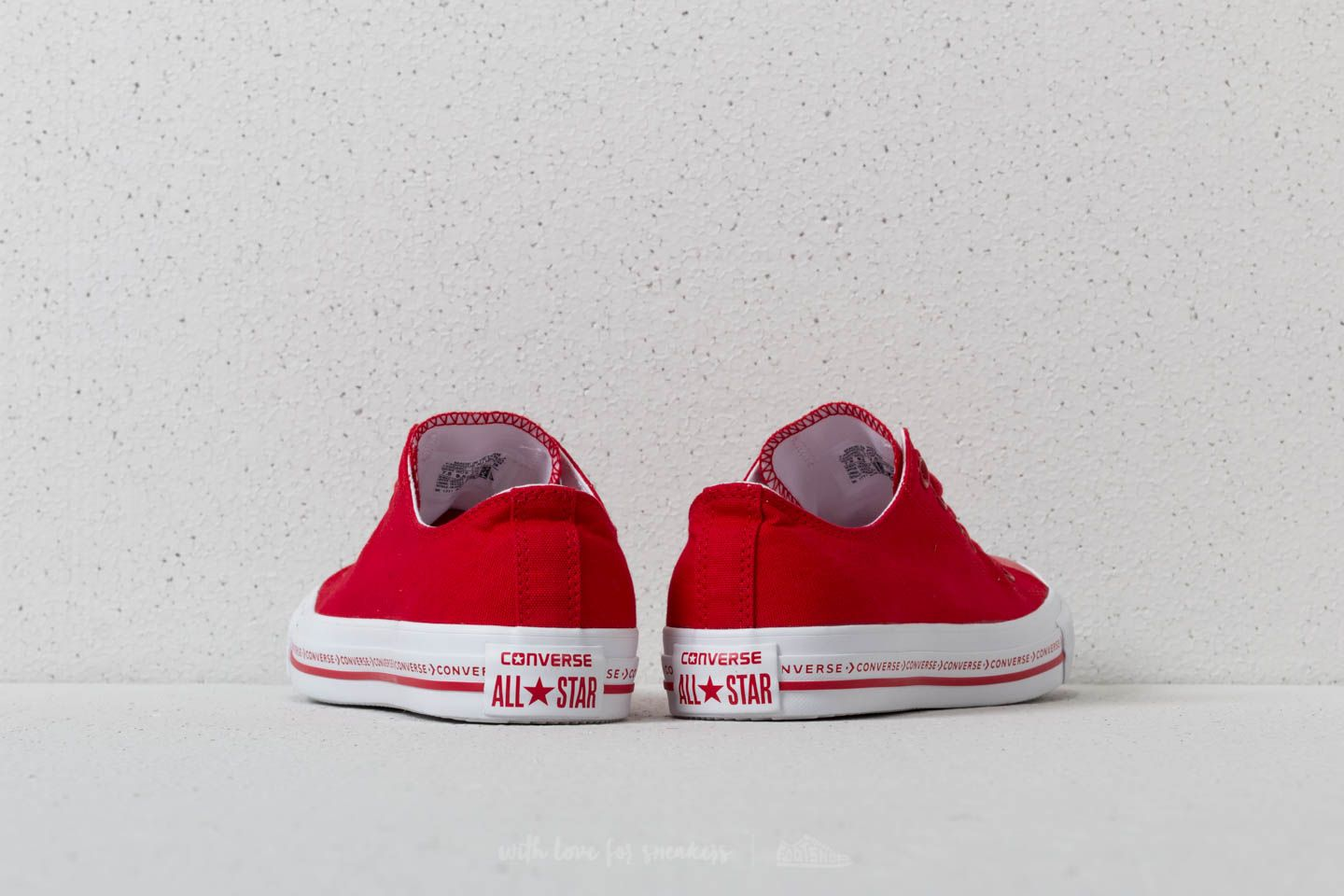 754425a0e7a9 ... get converse chuck taylor all star ox enamel red enamel red white a muy  buen 75516