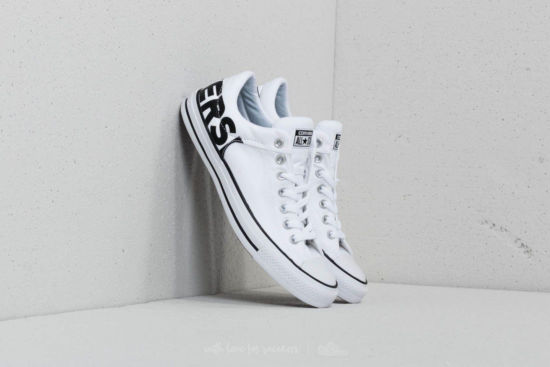 12fb31aa73ce Converse Chuck Taylor All Star High Street OX White  Black  White ...