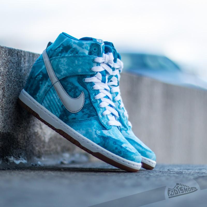 buy online 8b23c 5398b Nike WMNS Dunk Sky Hi Print. Clearwater Silver Print