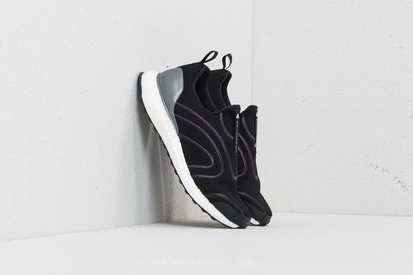 adidas x Stella McCartney Ultraboost Uncaged Core Black  Black Silver  Metallic  Eggshell Grey at 2fd6a1a14f9f4