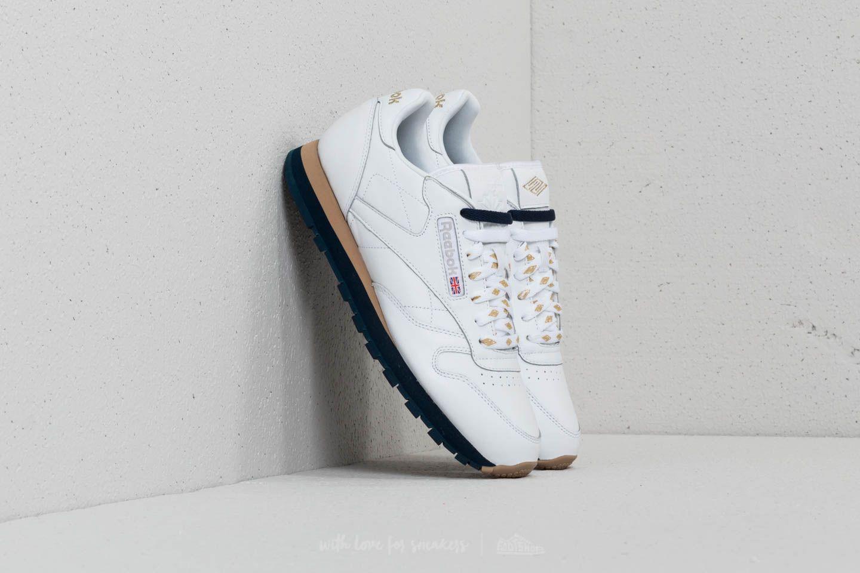 Reebok x Beams Classic Leather White/ Gold Metallic/ Collegiate Navy za skvělou cenu 1 590 Kč koupíte na Footshop.cz
