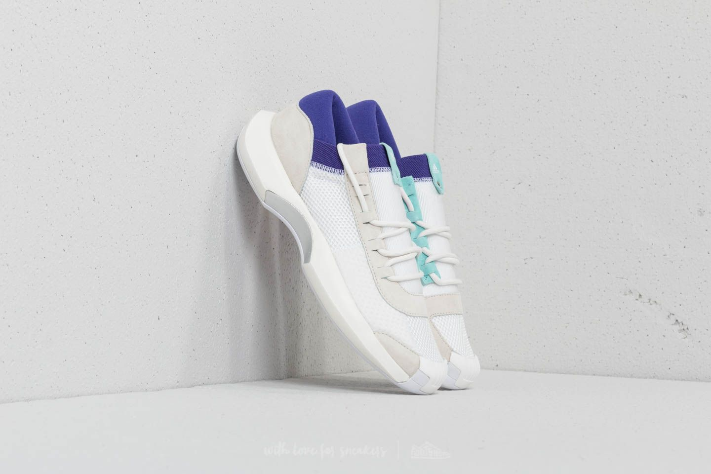 best website 0cfcd 94bb2 adidas Consortium x Nicekicks Crazy 1 ADV Core White Off White Energy  Aqua at