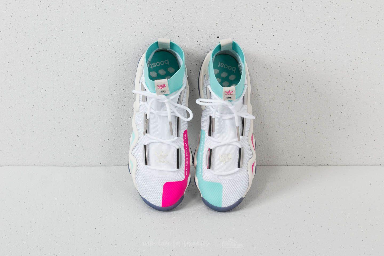 newest d2bc8 76c1e adidas Consortium x Nice Kicks Crazy 8 ADV Ftw White Off White Energy Aqua