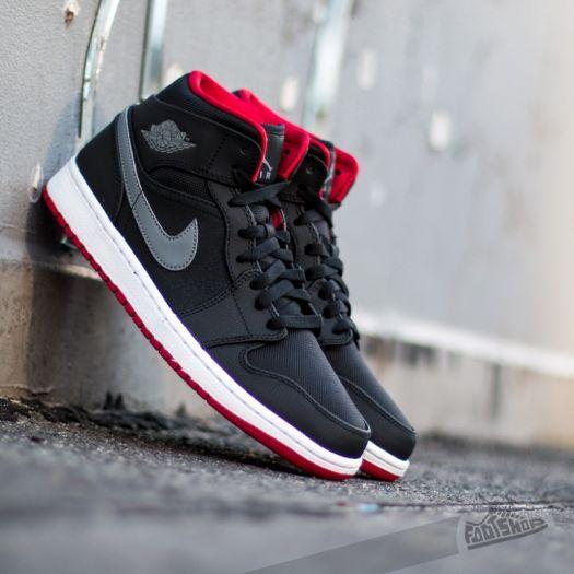 Air Jordan 1 Mid BlackCool GreyRed | Footshop