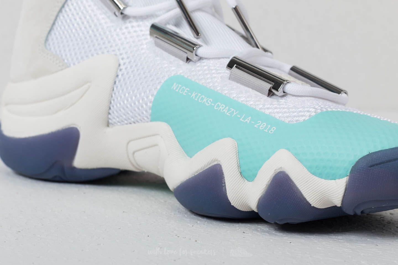 newest 16235 aaf91 adidas Consortium x Nice Kicks Crazy 8 ADV Ftw White Off White Energy Aqua