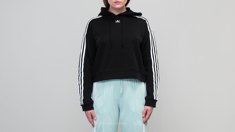adidas cropped black hoodie