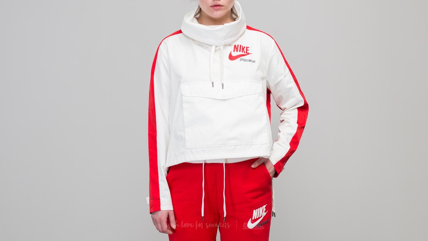 7eddfd20c3f7 Nike Sportswear Archive Pullover Jacket White  Red