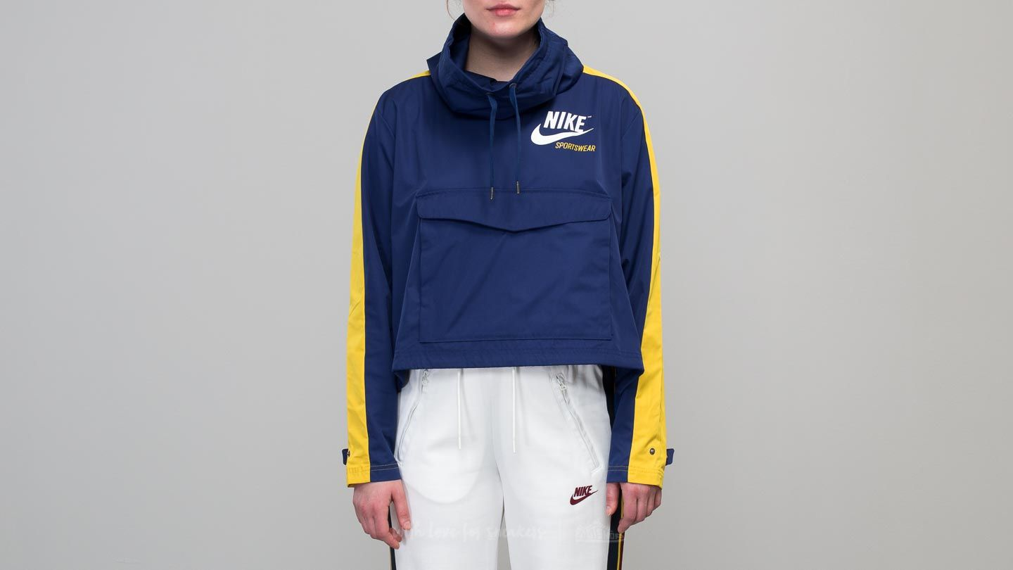 b4191eb8f96a Nike Sportswear Archive Pullover Jacket Blue  Yellow