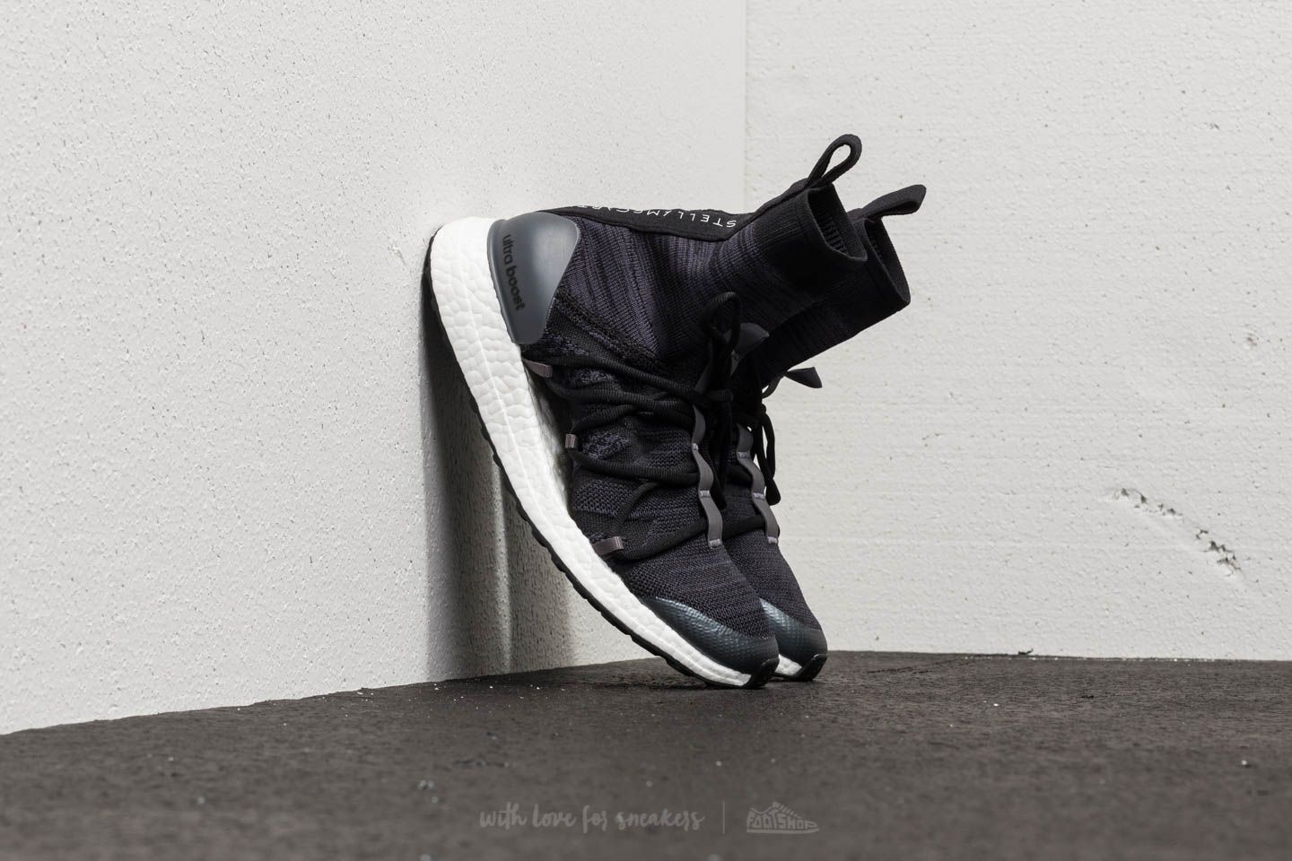 6fbd2cb4441f4 adidas x Stella McCartney Ultraboost X Mid Core Black  Night Grey ...